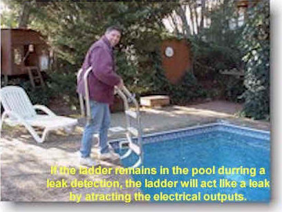 remving the pool's ladder